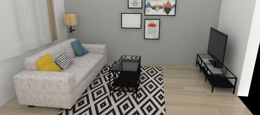 vizualizácia obývacia izba